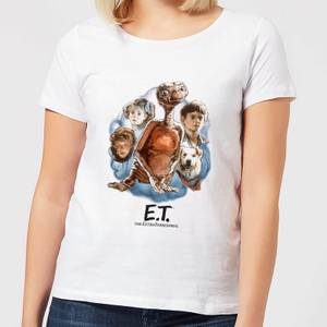 ET Painted Portrait Damen T-Shirt - Weiß
