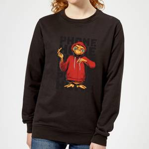 ET Phone Home Stylised Damen Pullover - Schwarz