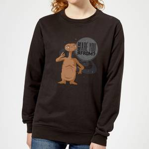 ET Where Are You From Damen Pullover - Schwarz