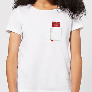 Shaun Of The Dead You've Got Red On You Pocket Women's T-Shirt - White