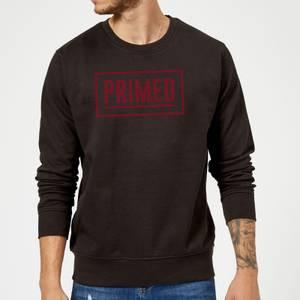 Primed Boxed Logo Sweatshirt - Black