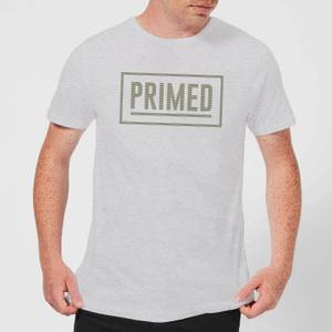 Primed Box Logo T-Shirt - Grey