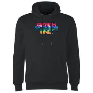 Sweat à Capuche Homme Ready Player One Rainbow Logo - Noir