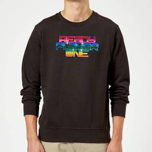 Ready Player One Rainbow Logo Sweatshirt - Black