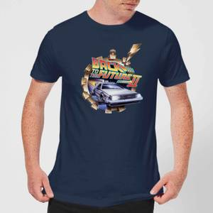 Back To The Future Clockwork T-Shirt - Navy