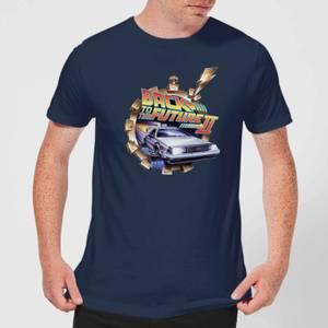 T-Shirt Homme Retour vers le Futur - Clockwork - Bleu Marine