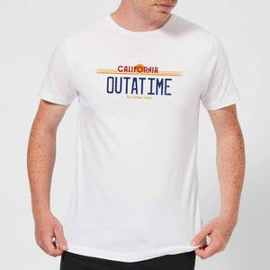 Back To The Future Outatime Plate T-Shirt - White