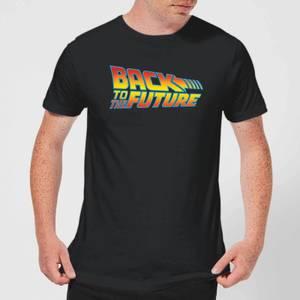 T-Shirt Homme Retour vers le Futur - Logo Classique - Noir