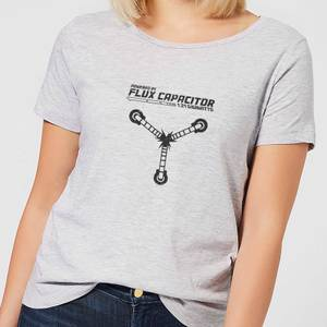 Back To The Future Powered By Flux Capacitor Women's T-Shirt - Grey