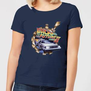 Back To The Future Clockwork Women's T-Shirt - Navy
