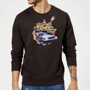 Back To The Future Clockwork Sweatshirt - Black