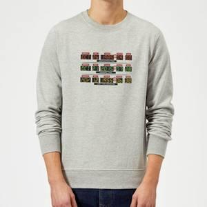 Back To The Future Destination Clock Sweatshirt - Grey