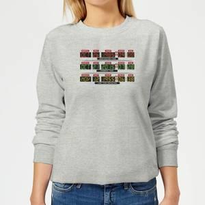 Back To The Future Destination Clock Women's Sweatshirt - Grey