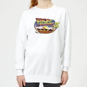 Zurück In Die Zukunft Lasso Damen Pullover - Weiß
