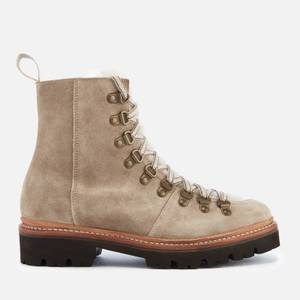 Grenson Women's Nanette Suede Hiking Style Boots - Maple