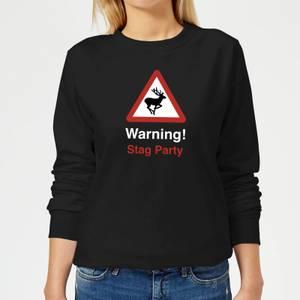 Warning Stag Party Women's Sweatshirt - Black