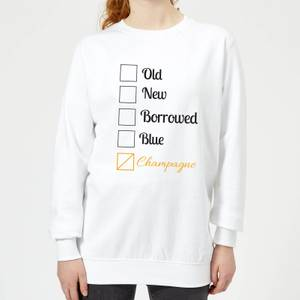 Champagne Tick Box Women's Sweatshirt - White