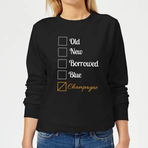 Champagne Tick Box Women's Sweatshirt - Black