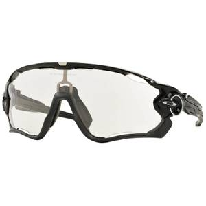 Oakley Jawbreaker Photochromic Road Sunglasses - Polished Black