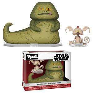 Star Wars - Jabba the Hut e Salacious Crumb Figure Vynl.