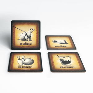 The Big Lebowski Vintage Coaster Set