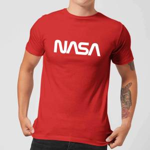 NASA Worm White Logotype T-Shirt - Red