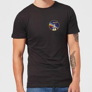 T-Shirt Homme NASA Vintage Rainbow Shuttle - Noir