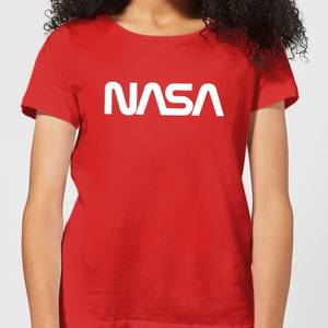 Camiseta NASA Logo - Mujer - Rojo