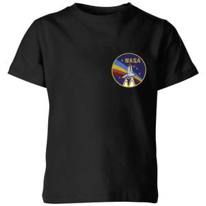 T-Shirt Homme NASA Vintage Rainbow Shuttle Kids - Noir