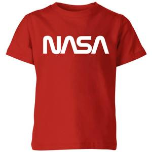 T-Shirt Homme NASA Worm Logotype Kids - Rouge