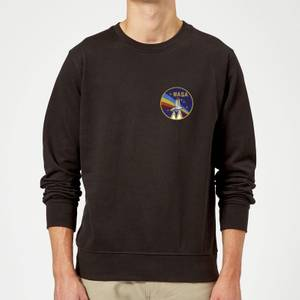 NASA Vintage Rainbow Shuttle Sweatshirt - Black