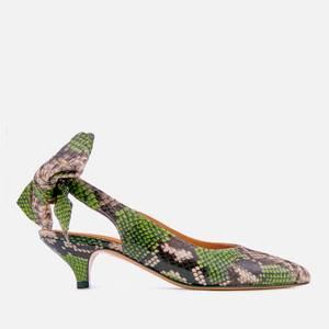 Ganni Women's Sabine Court Shoes - Classic Green