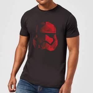 Camiseta Star Wars Los Últimos Jedi Casco Stormtrooper Cubista - Hombre - Negro