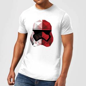 T-Shirt Homme Casque Stormtrooper Effet Cubiste - Star Wars - Blanc