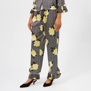 Ganni Women's Calla Silk Trousers - Black