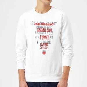 Star Wars Dark Side Echo White Sweatshirt - White