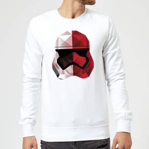 Star Wars Cubist Trooper Helmet White Sweatshirt - White