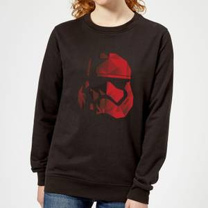 Star Wars Jedi Cubist Trooper Helmet Black Women's Sweatshirt - Black
