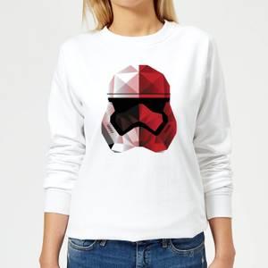Star Wars Cubist Trooper Helmet Weiß Damen Pullover - Weiß
