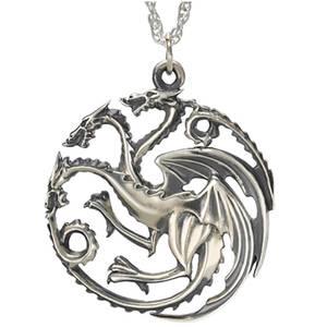 Collier Argent Maison Targaryen - Game of Thrones