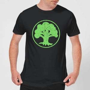 T-Shirt Magic The Gathering Mana Green - Nero