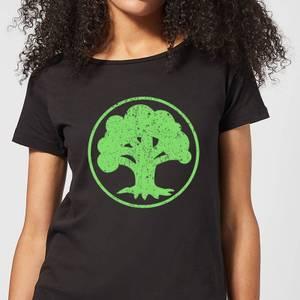 T-Shirt Femme Mana Vert - Magic : The Gathering - Noir