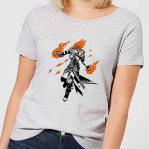 Magic The Gathering Chandra Character Art Women's T-Shirt - Grey