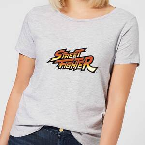 Street Fighter Logo Damen T-Shirt - Grau