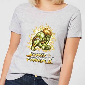 Street Fighter Blanka 16-bit Damen T-Shirt - Grau