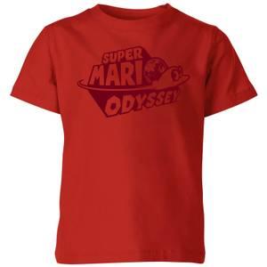 T-Shirt Enfant Logo Odyssey - Super Mario Nintendo - Rouge