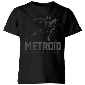 T-Shirt Nintendo Metroid Samus Returns - Nero - Bambini