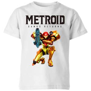T-Shirt Enfant Samus Returns Couleurs - Metroid Nintendo - Blanc