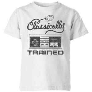 Nintendo Retro Classically Trained Kid's T-Shirt - White
