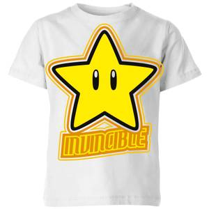 Nintendo Super Mario Invincible Kid's T-Shirt - White